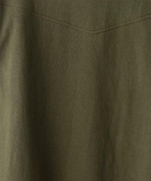 coen / コーエン カットソー | ボートネック肩ボタンソリッドカットソー | 詳細9