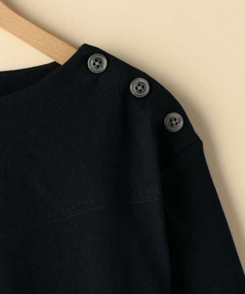 coen / コーエン カットソー | ボートネック肩ボタンソリッドカットソー | 詳細14