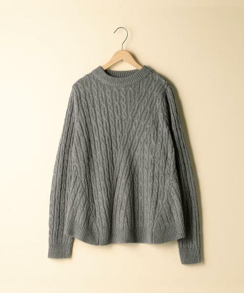 coen / コーエン ニット・セーター | カラーネップケーブル裾フレアニット | 詳細1