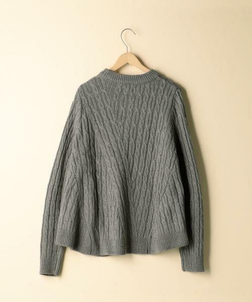 coen / コーエン ニット・セーター | カラーネップケーブル裾フレアニット | 詳細2