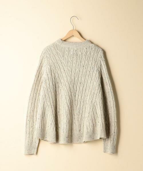 coen / コーエン ニット・セーター | カラーネップケーブル裾フレアニット | 詳細3