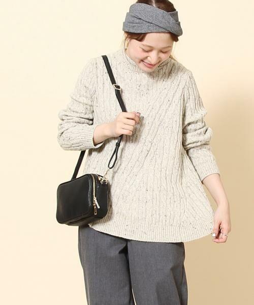 coen / コーエン ニット・セーター | カラーネップケーブル裾フレアニット | 詳細10