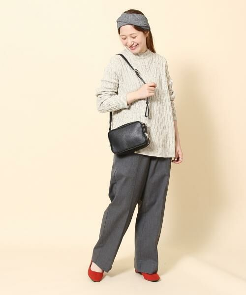 coen / コーエン ニット・セーター   カラーネップケーブル裾フレアニット   詳細11