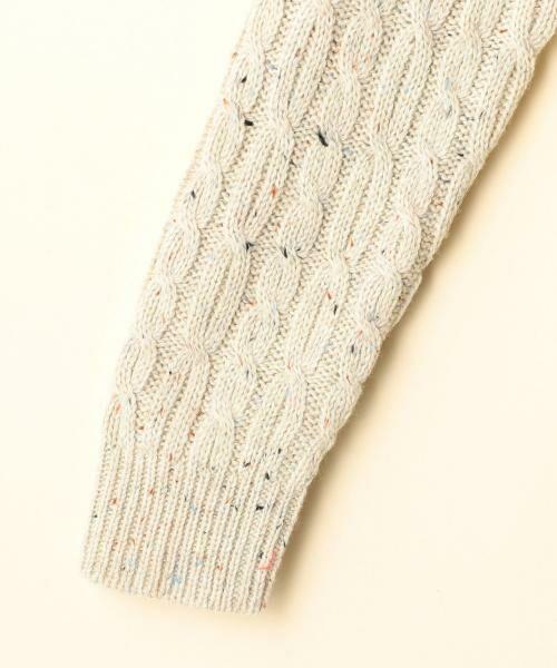 coen / コーエン ニット・セーター | カラーネップケーブル裾フレアニット | 詳細7