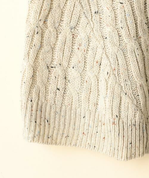 coen / コーエン ニット・セーター | カラーネップケーブル裾フレアニット | 詳細6