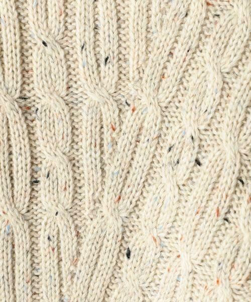 coen / コーエン ニット・セーター | カラーネップケーブル裾フレアニット | 詳細9
