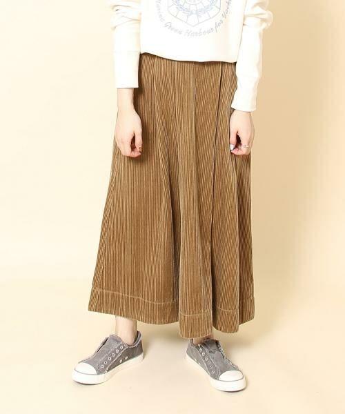 coen / コーエン ロング・マキシ丈スカート | コーデュロイボリュームロングスカート(BEIGE)