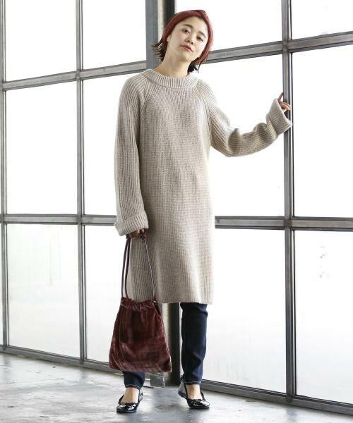 coen / コーエン ショルダーバッグ | 【『リンネル』2017/11月号掲載】ベロアタッチ巾着バッグ | 詳細10