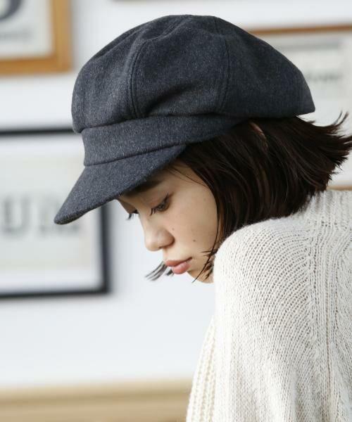 coen / コーエン ハンチング・キャスケット・ベレー帽 | メルトンキャスケット(DK.GRAY)