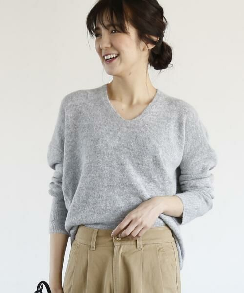 coen / コーエン ニット・セーター | 【手洗いできる】マイルドネスコクーンニットプルオーバー(グレー)
