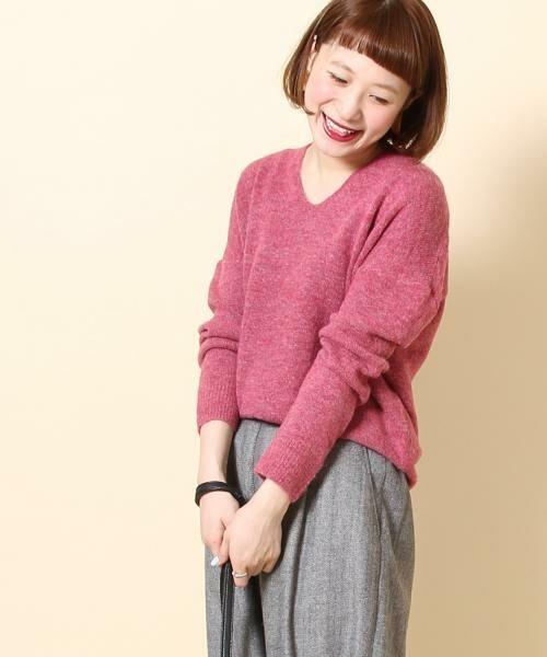 coen / コーエン ニット・セーター | 【手洗いできる】マイルドネスコクーンニットプルオーバー(ピンク)