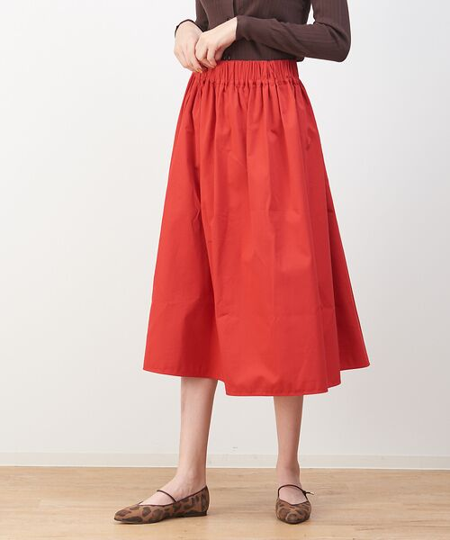 collex / コレックス スカート   2WAYミモレスカート【予約】(レッド)