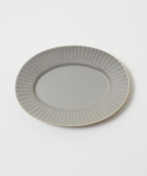 collex/コレックス 《一部別注カラー》SAKUZAN 作山窯 StripeオーバルプレートS グレー F