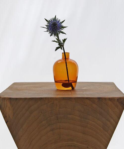collex / コレックス インテリア・インテリア雑貨   【Hubsch/ヒュプシュ】 カラーガラスフラワーベースEGG(ダークオレンジ)