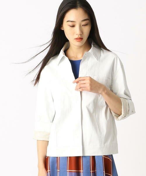 COMME CA / コムサ テーラードジャケット | 2WAY リネンシャツジャケット | 詳細1