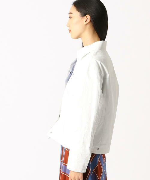 COMME CA / コムサ テーラードジャケット | 2WAY リネンシャツジャケット | 詳細2