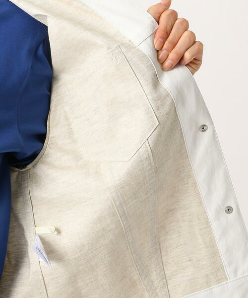 COMME CA / コムサ テーラードジャケット | 2WAY リネンシャツジャケット | 詳細8