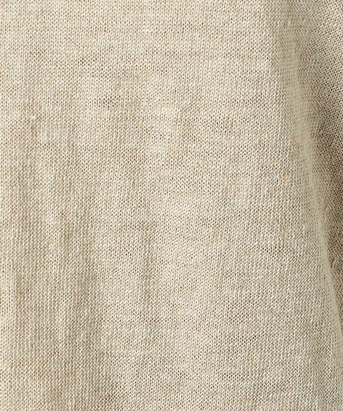 COMME CA / コムサ ニット・セーター | ドルマン風ドロップショルダーリネンニット | 詳細1