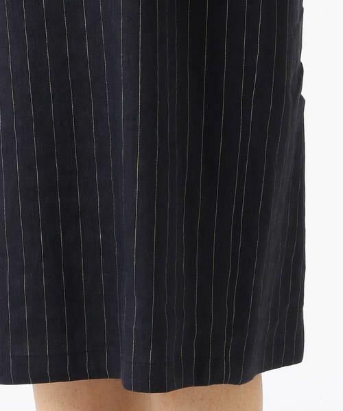 60811d719de2f リネンストレッチストライプ ワンピース (ドレス)|COMME CA   コムサ ...