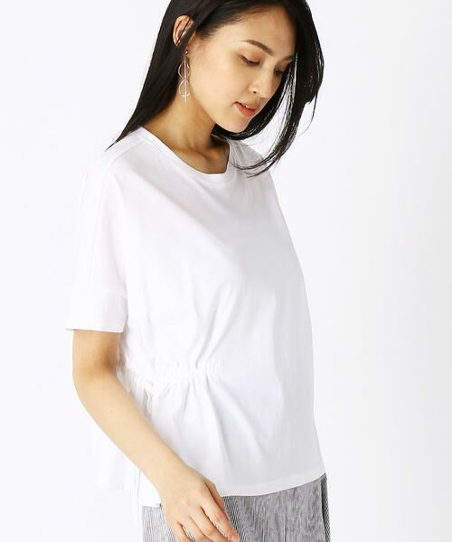 COMME CA / コムサ Tシャツ | ハイツイスト天竺 Tシャツ(シロ)