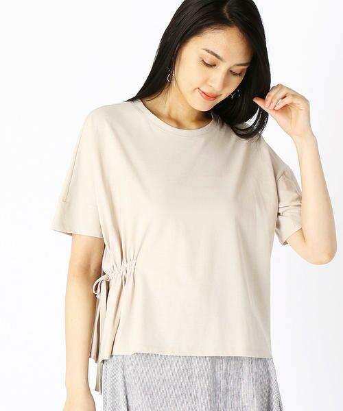 COMME CA / コムサ Tシャツ | ハイツイスト天竺 Tシャツ(ベージュ)