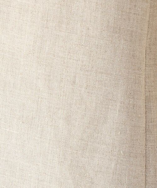 COMME CA / コムサ ノーカラージャケット | 麻 ノーカラー ジャケット | 詳細1