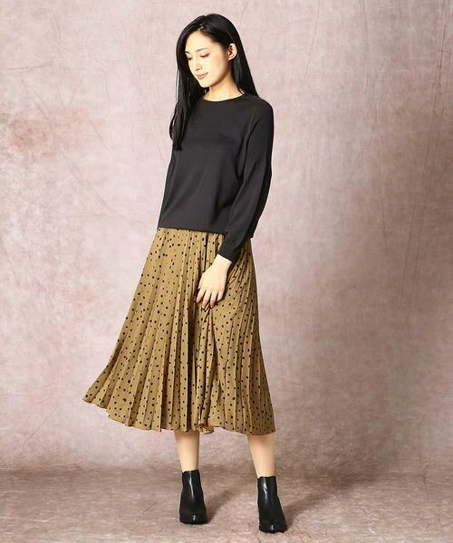 COMME CA / コムサ ロング・マキシ丈スカート | ドット柄 プリーツスカート | 詳細1