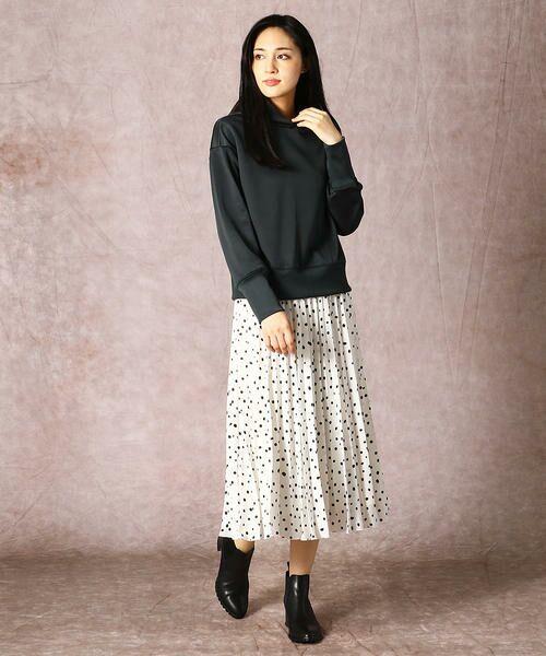 COMME CA / コムサ ロング・マキシ丈スカート | ドット柄 プリーツスカート | 詳細8