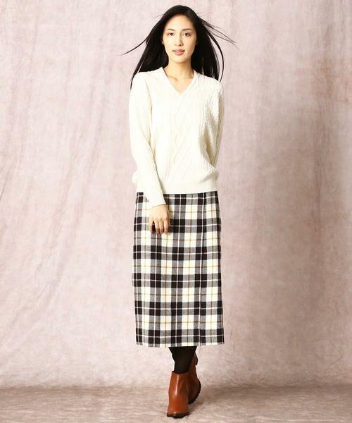 COMME CA / コムサ ニット・セーター | ホールガーメントアラン柄セーター | 詳細1