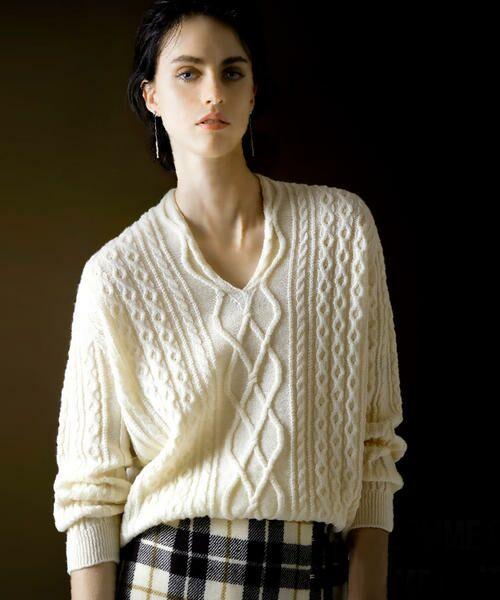 COMME CA / コムサ ニット・セーター | ホールガーメントアラン柄セーター | 詳細8
