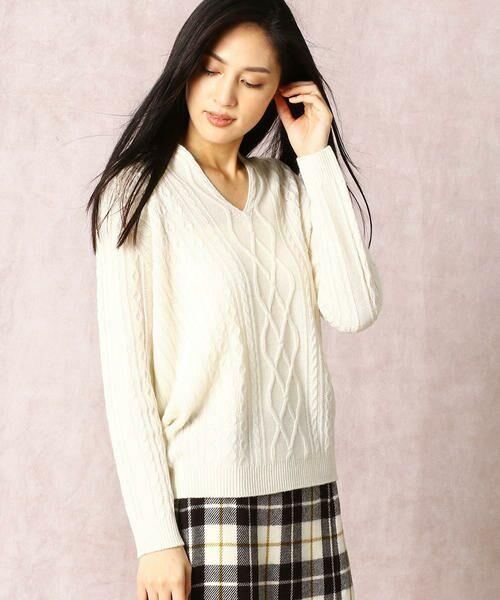 COMME CA / コムサ ニット・セーター | ホールガーメントアラン柄セーター | 詳細2