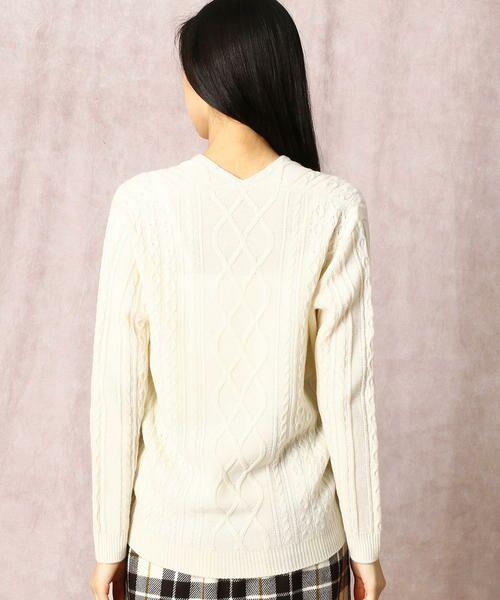 COMME CA / コムサ ニット・セーター | ホールガーメントアラン柄セーター | 詳細4