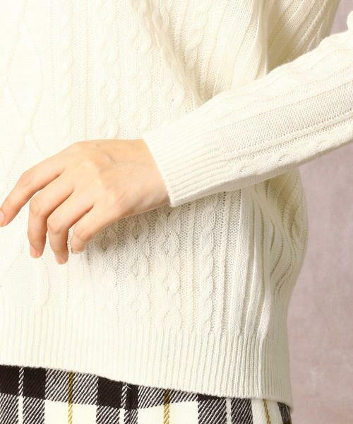COMME CA / コムサ ニット・セーター | ホールガーメントアラン柄セーター | 詳細6