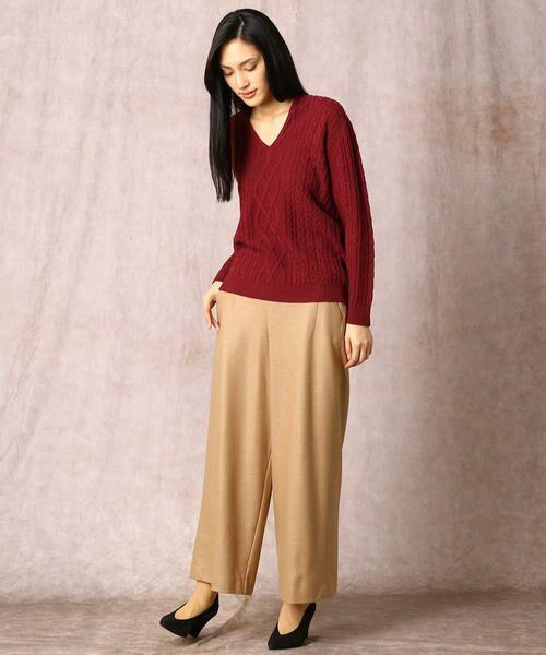 COMME CA / コムサ ニット・セーター | ホールガーメントアラン柄セーター | 詳細9