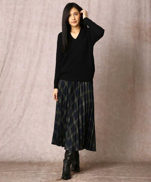 COMME CA / コムサ ニット・セーター | ホールガーメントアラン柄セーター | 詳細10