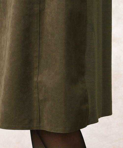 COMME CA / コムサ ドレス | ヘビースエード Iライン ワンピース | 詳細9