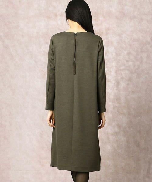 COMME CA / コムサ ドレス | ヘビースエード Iライン ワンピース | 詳細5