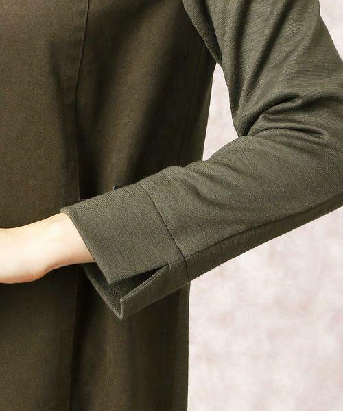 COMME CA / コムサ ドレス | ヘビースエード Iライン ワンピース | 詳細7