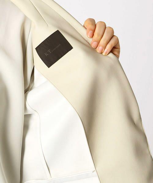 COMME CA / コムサ テーラードジャケット | フェイクレザーテーラードジャケット | 詳細10