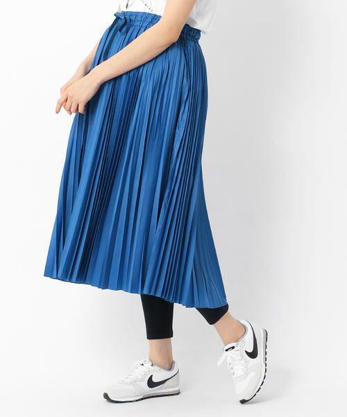 COMME CA BLANC D'OEUF / コムサブロンドオフ マタニティウェア | (マタニティ)スポーティー プリーツスカート(ブルー)