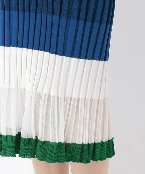 COMME CA BLANC D'OEUF / コムサブロンドオフ マタニティウェア | (マタニティ)マルチボーダー リブニットスカート | 詳細5