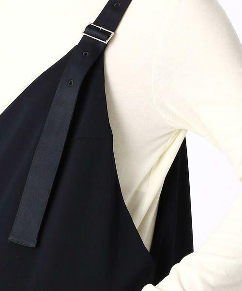 COMME CA BLANC D'OEUF / コムサブロンドオフ マタニティウェア | 〔マタニティ〕ストレッチポンチ裏起毛サロペットドレス | 詳細7