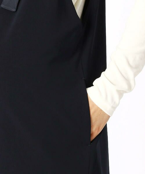 COMME CA BLANC D'OEUF / コムサブロンドオフ マタニティウェア   〔マタニティ〕ストレッチポンチ裏起毛サロペットドレス   詳細8