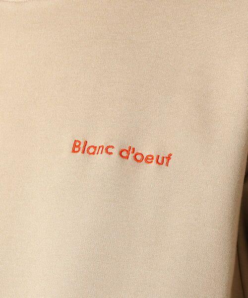 COMME CA BLANC D'OEUF / コムサブロンドオフ マタニティウェア | 〔マタニティ〕あったか素材 ブランドロゴ刺繍 Tシャツ ドレス | 詳細9