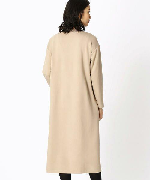 COMME CA BLANC D'OEUF / コムサブロンドオフ マタニティウェア | 〔マタニティ〕あったか素材 ブランドロゴ刺繍 Tシャツ ドレス | 詳細4