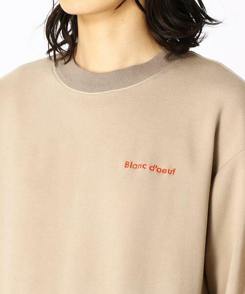 COMME CA BLANC D'OEUF / コムサブロンドオフ マタニティウェア | 〔マタニティ〕あったか素材 ブランドロゴ刺繍 Tシャツ ドレス | 詳細5