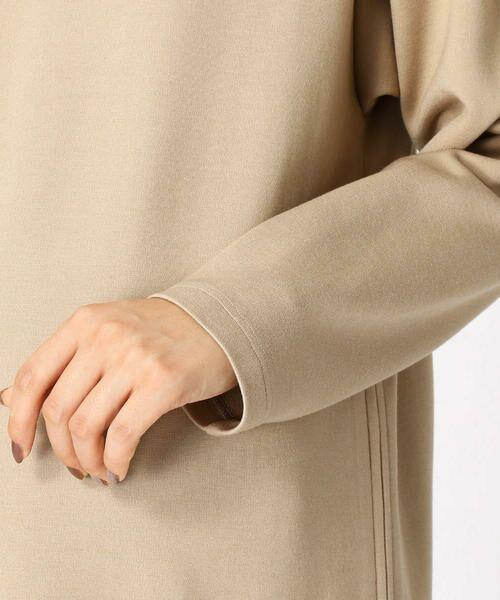 COMME CA BLANC D'OEUF / コムサブロンドオフ マタニティウェア | 〔マタニティ〕あったか素材 ブランドロゴ刺繍 Tシャツ ドレス | 詳細6