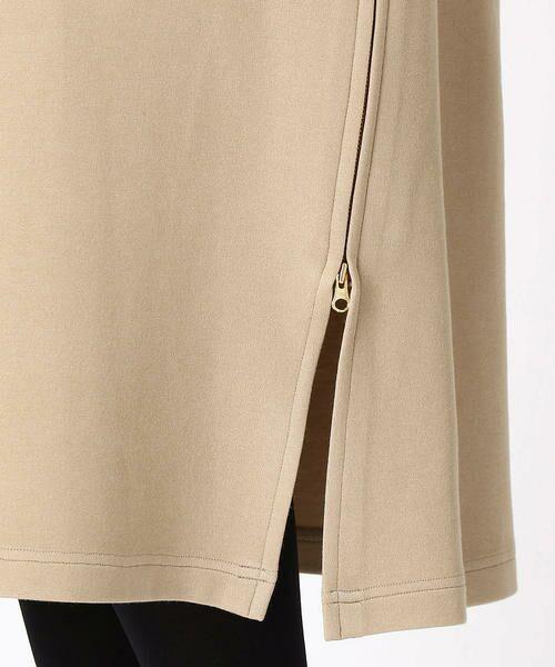COMME CA BLANC D'OEUF / コムサブロンドオフ マタニティウェア | 〔マタニティ〕あったか素材 ブランドロゴ刺繍 Tシャツ ドレス | 詳細7