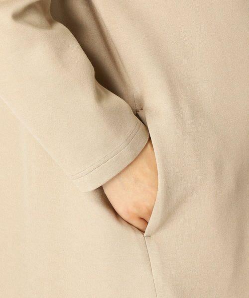 COMME CA BLANC D'OEUF / コムサブロンドオフ マタニティウェア | 〔マタニティ〕あったか素材 ブランドロゴ刺繍 Tシャツ ドレス | 詳細8