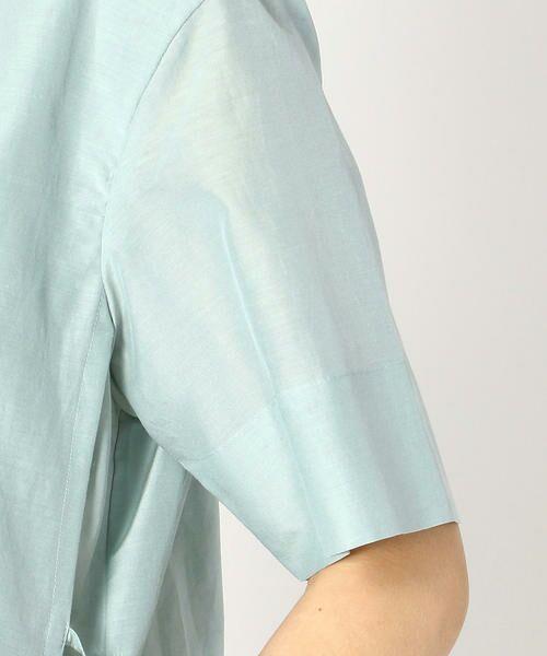 COMME CA BLANC D'OEUF / コムサブロンドオフ マタニティウェア | 〔マタニティ〕ギャザーフレアTシャツドレス | 詳細6